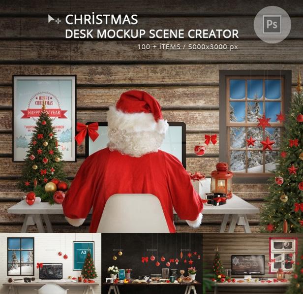 Christmas Responsive Mockup (Displays)