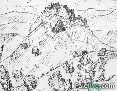 Gradina crtež