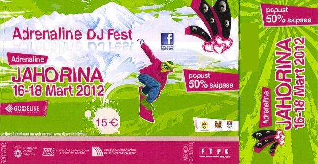Ulaznica ADRENALIN DJ FEST