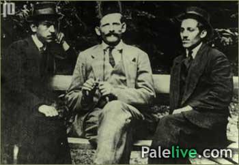 Grabež (lijevo), Princip (desno) sa prijateljem (u sredini) 1912. godine u Beogradu