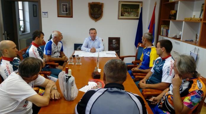 Učesnici biciklističkog maratona kod zamjenika gradonačelnika