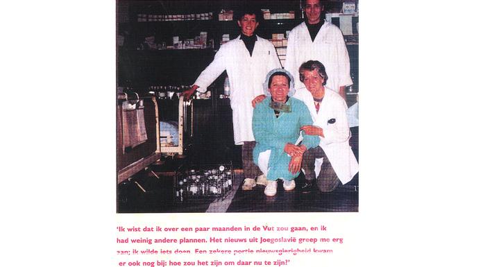 Jeni Lightenberg sa osobljem bolnice Koran