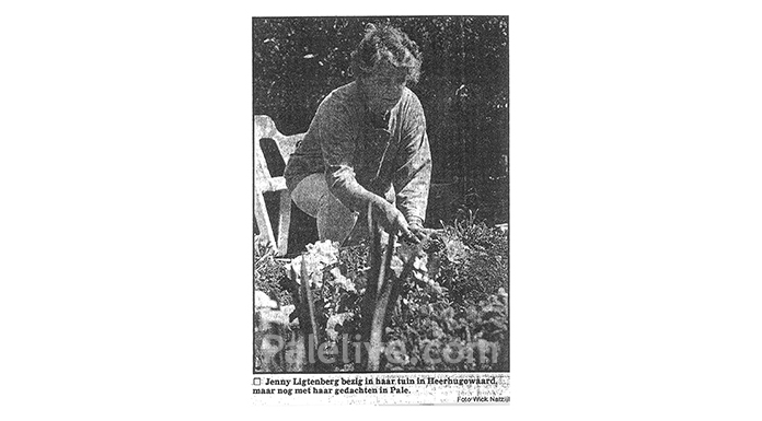 Jеni Ligtеnbеrg u svom dvorištu u Holandiji