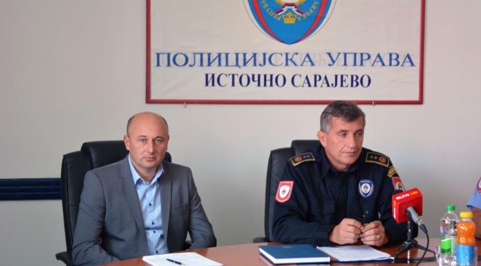 Načelnik Sektora kriminalističke policije Policijske uprave Istočno Sarajevo Nebojša Popović na konferenciji za novinare