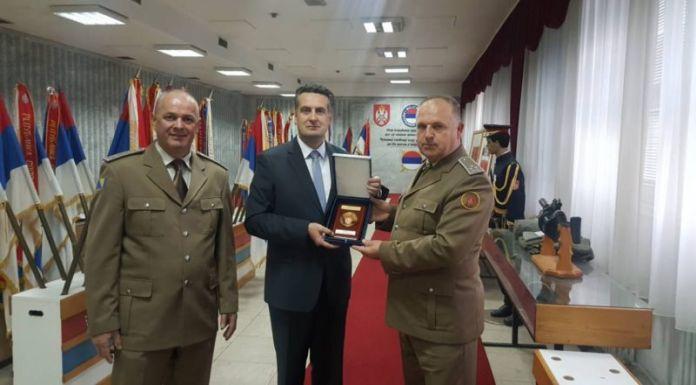 Gradonačelniku Istočnog Sarajeva zahvalnica 3. pješadijskog (Republika Srpska) puka