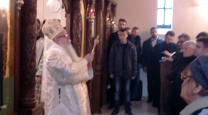 Mitropolit Hrizostom služio u crkvi na Veljinama