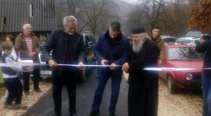 Otvoren rekonstruisani put prema crkvi brvnari u selu Vagan