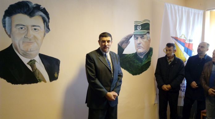 Otkriven mural sa likom Karadžića i Mladića