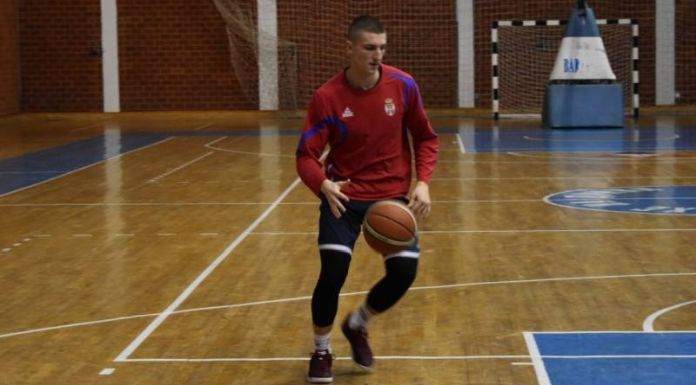 Milenko Frganja na pripremama košarkaške reprezentacije Srbije