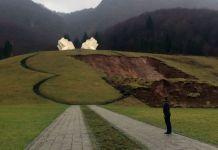 Klizište prijeti spomeniku na Tjentištu