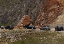Vozači oprez - odron na lokalitetu Sijeračke stijene