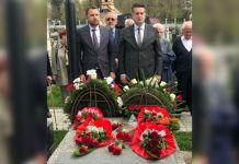 Vuković položio vijenac na spomenik predsjedniku OO ZOI '84 Branku Mikuliću