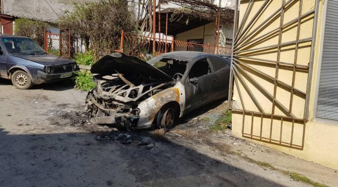 Zapaljen automobil u Jevrejskoj ulici