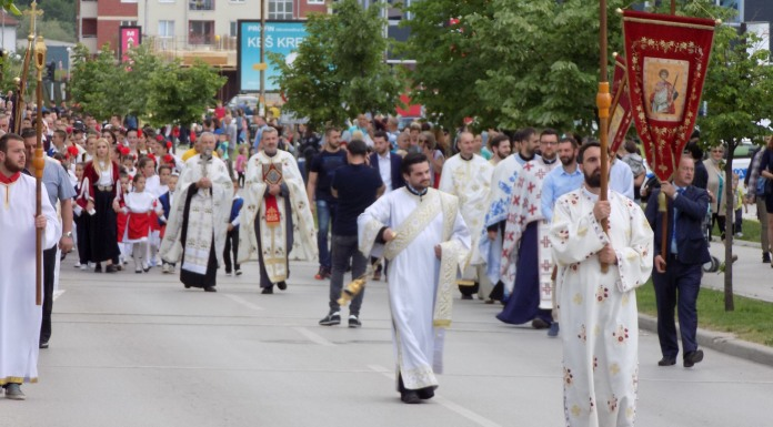 Slavska litija prošla ulicama opštine