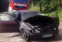 """Zapalio se """"audi"""", vozač nepovrijeđen"""