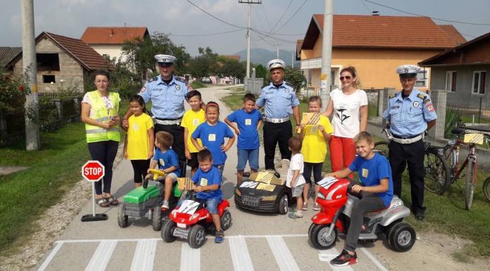 Akcija edukacije biciklista u saobraćaju