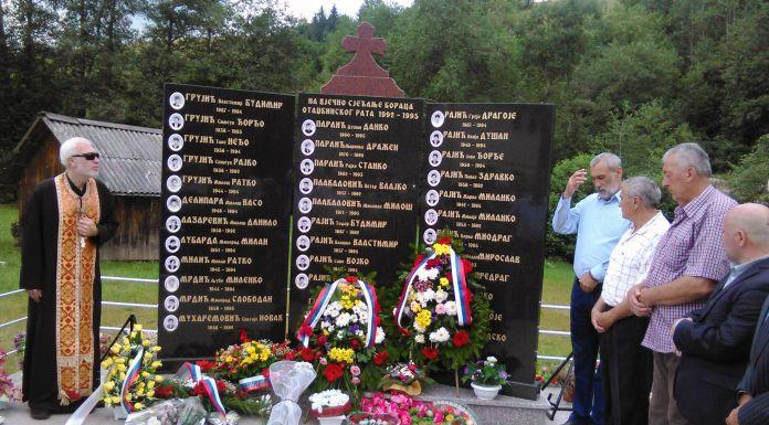 Osveštan spomenik poginulima iz sela Bare